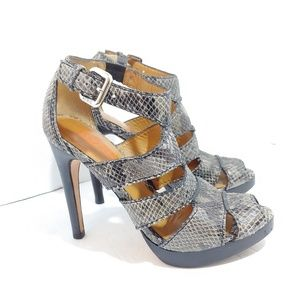 Kors by Micheal Kors snakeskin strappy heels